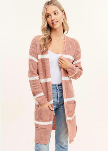 Striped Spring Pocket Cardigans - 3 Colors!