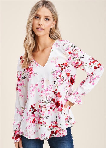 In Love With Spring Floral Tops - 2 Colors!
