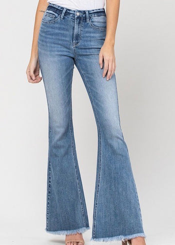 Vervet By Flying Monkey Summer Wash Flare Jeans