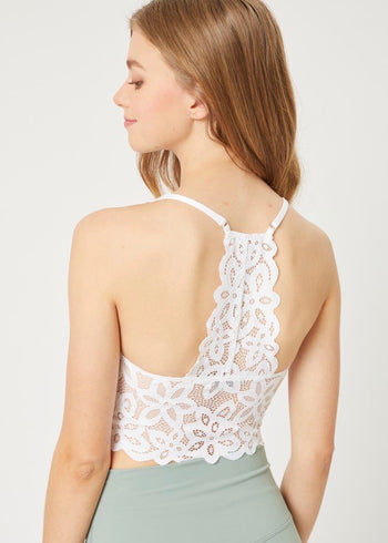 Lace Recerback Bralettes - 3 Colors!