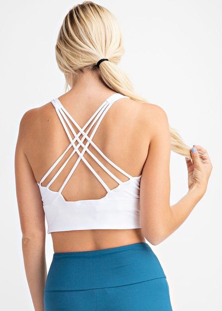 Strappy Back Sports Bras - 2 Colors!