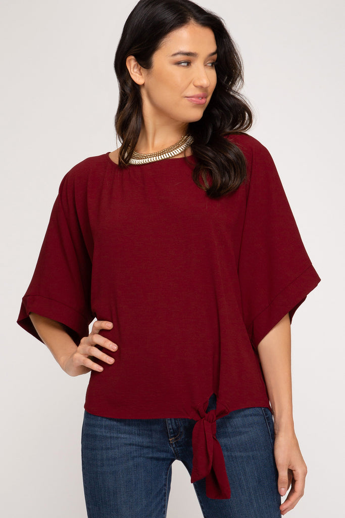 Relaxed Fit Chiffon Tie Top