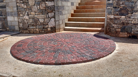 Pavers after being sealed