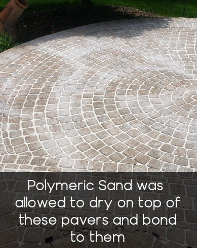 Sand was left on top of the pavers