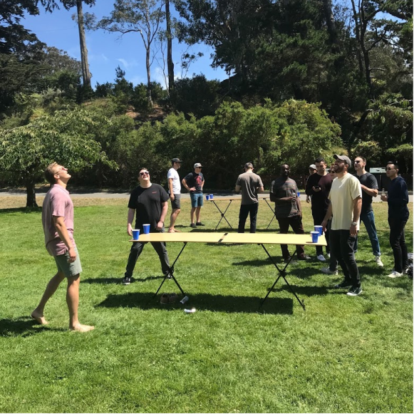 Backpacker Beer Die Table