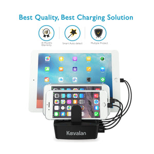 Kavalan 60W 5 Port Rapid USB Charging Station Dock & Organizer