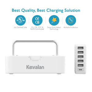 Kavalan 2-in-1 6 Port Charging Station