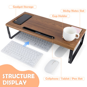 Kavalan Right/Left Handed Portable Laptop Table with Top Handle Design_Gray