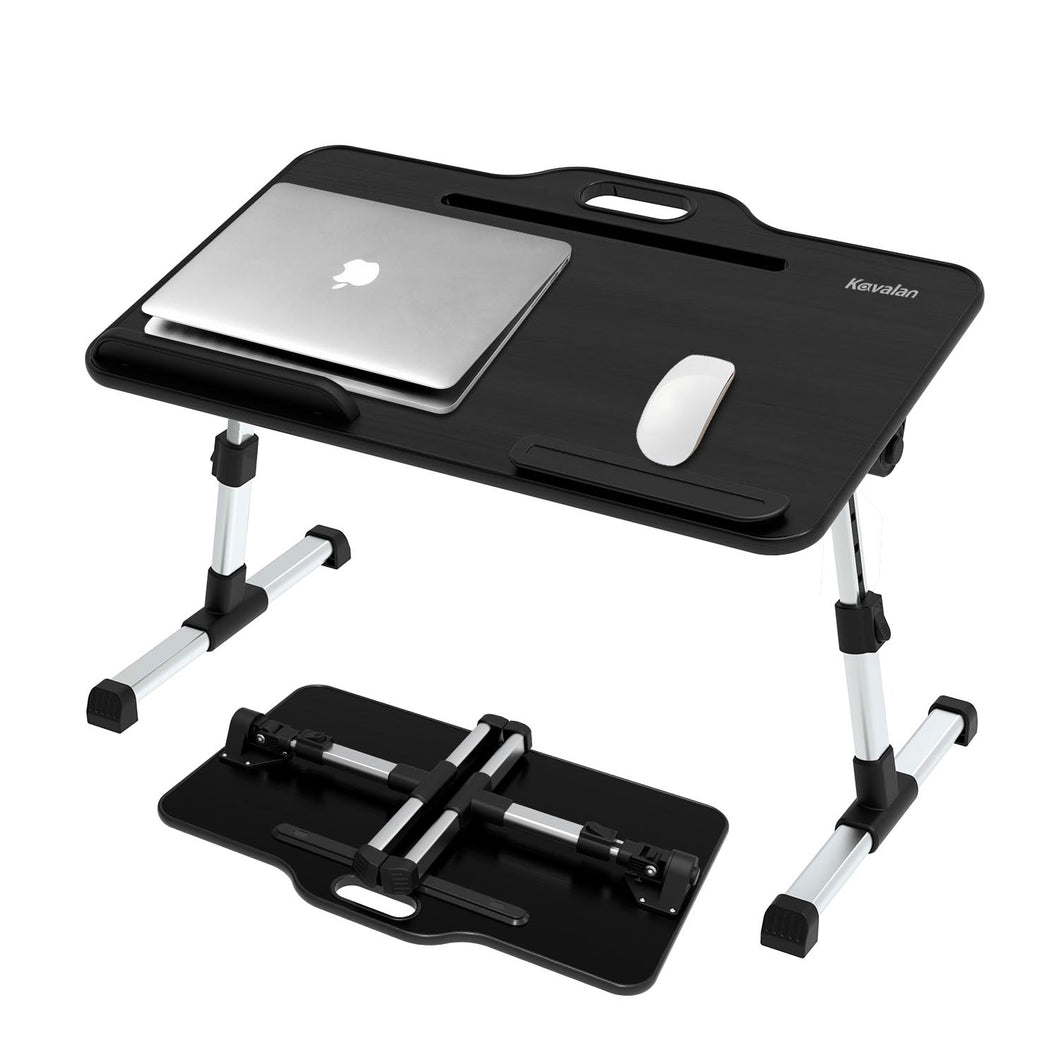 Laptop Desk Bed Tray Table, Height & Angle Adjustable Sit and Stand Desk, Right & Left Handed Design Portable Laptop Table with Handle,Foldable Bed Desk for Laptop and Writing in Sofa Couch