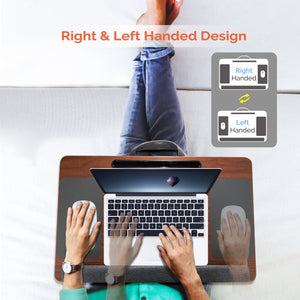 Kavalan Laptop Desk with Mouse & Wrist Pad, Right & Left Handed Design