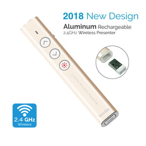 Kavalan 2.4G Aluminum Rechargeable Wireless Presenter