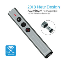 Load image into Gallery viewer, Kavalan 2.4G Aluminum Rechargeable Wireless Presenter