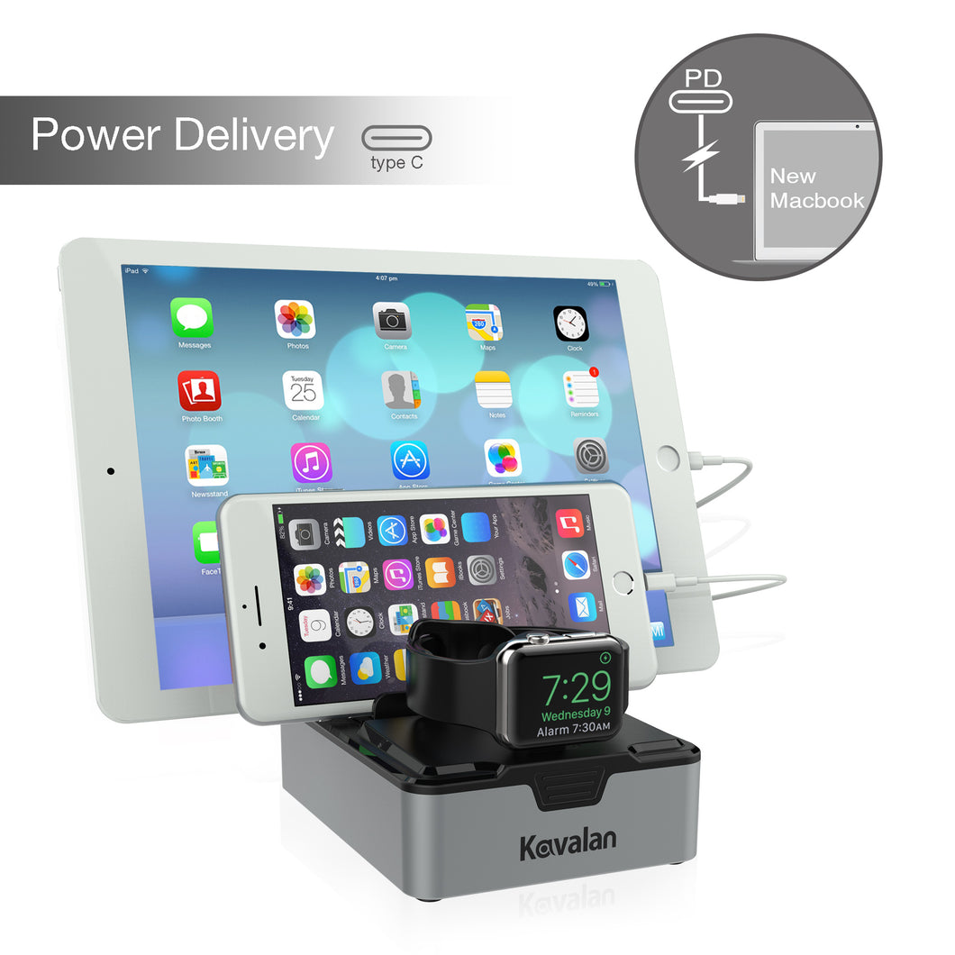 Kavalan 3 Port USB Type-C with Power Delivery USB