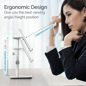 Kavalan Height & Angle Adjustable Aluminum Smartphone & Headset Stand