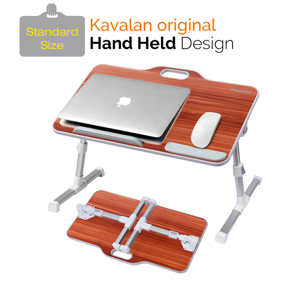 Kavalan Portable Laptop Table with Handle - American Cherry