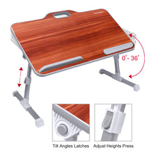 Load image into Gallery viewer, Kavalan Portable Laptop Table with Handle - American Cherry
