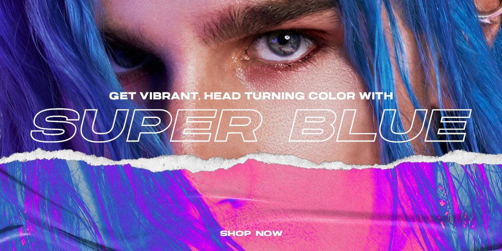 Super Blue Hair Healing Color