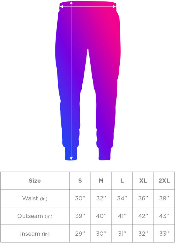 Joggers Sizing Guide