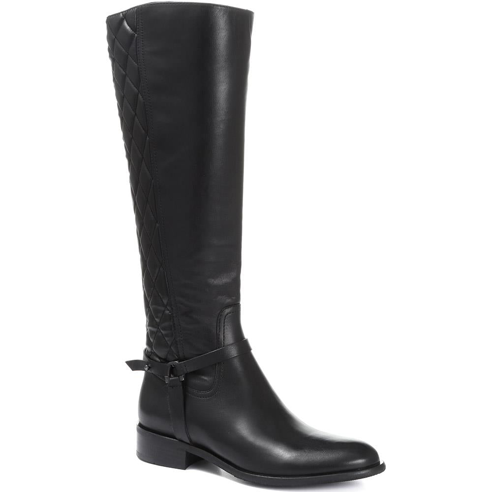 Quilted Leather Knee High Boot - MKOC30501 / 317 091