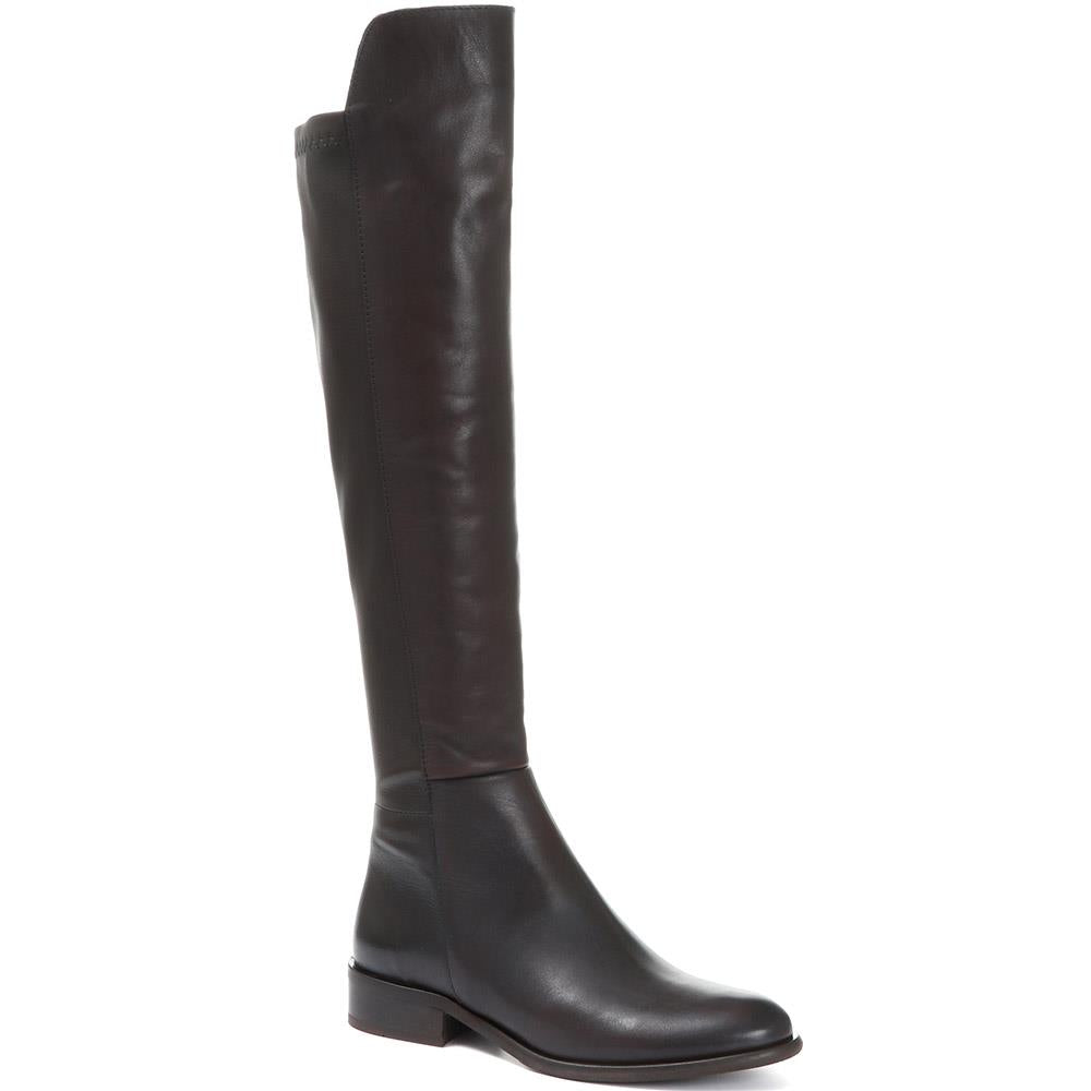 Stretch Fit Leather Knee Boot - MKOC28521 / 315 021