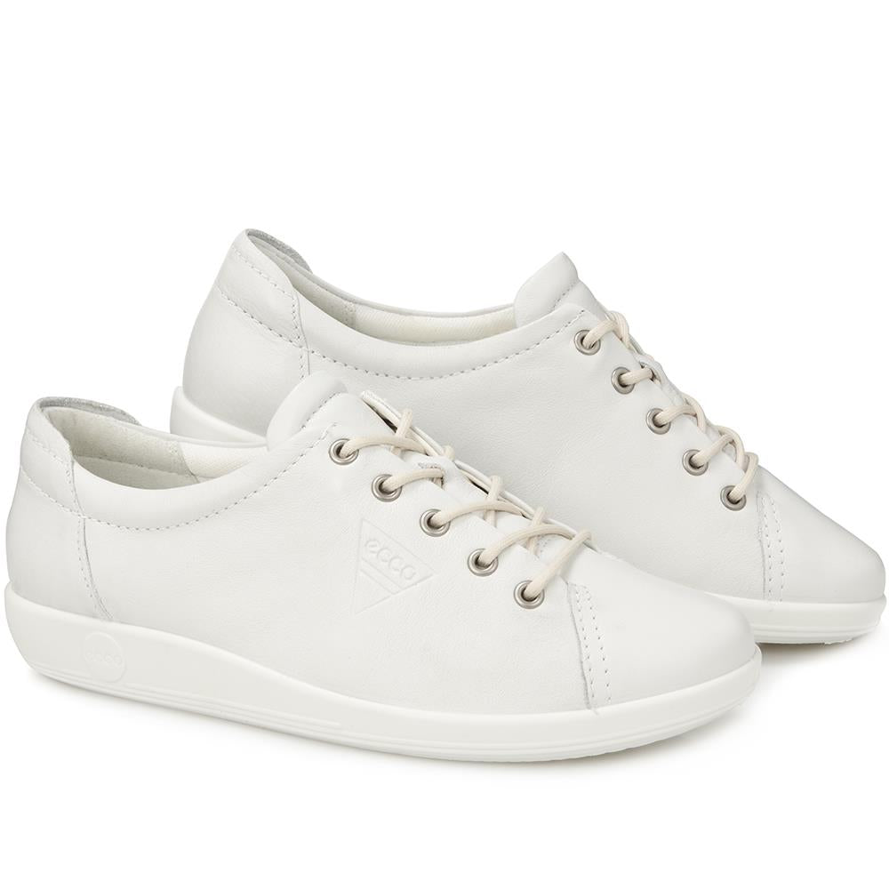 Soft 2.0 Lace-Up Leather Trainer - ECCO129506 / 314 522