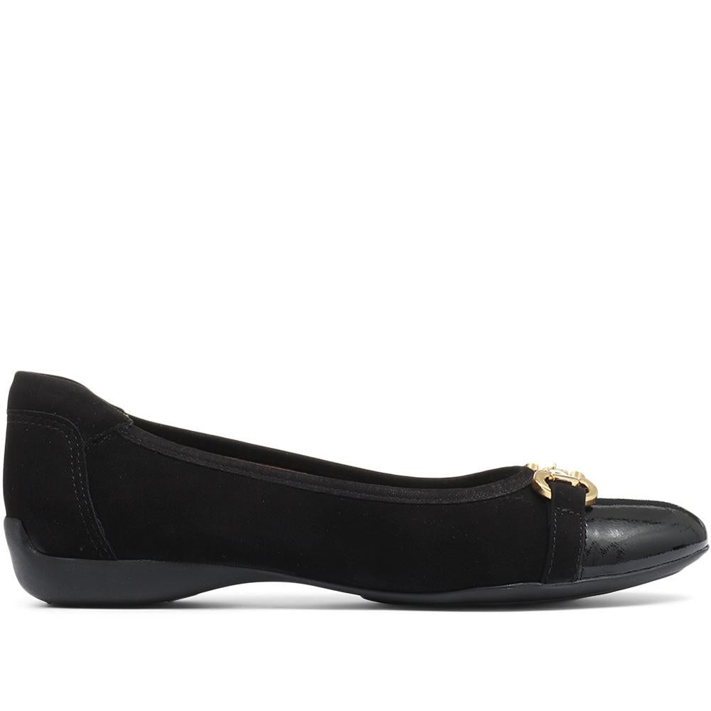 Valentina Leather Ballerina Shoe - VALENTINA / 318 189