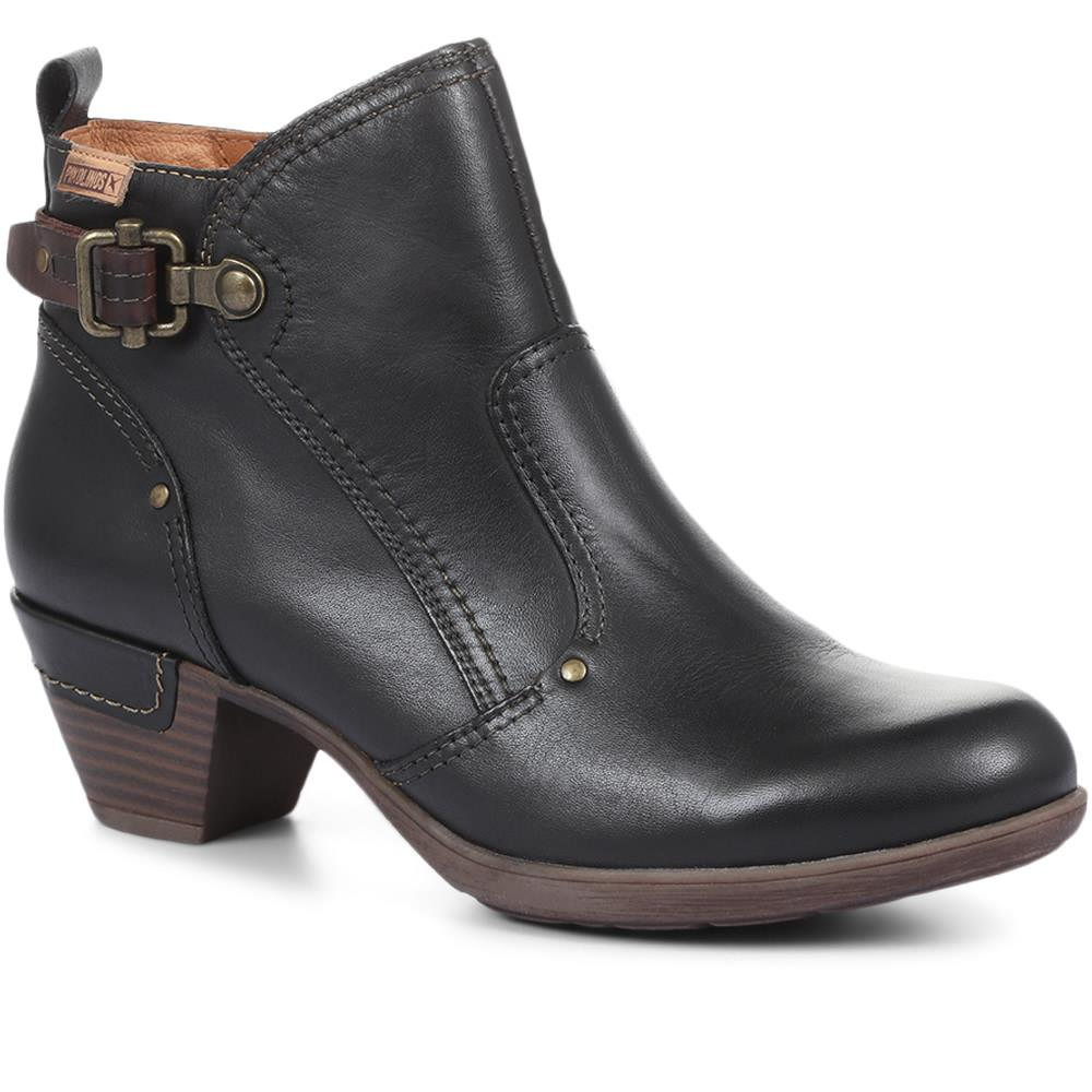 Heeled Leather Ankle Boot - PIKO30508 / 317 002