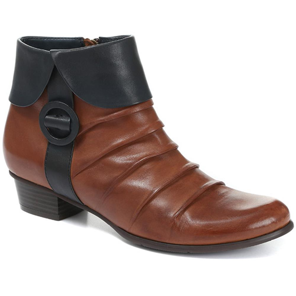 Stefany-130 Leather Ankle Boots - SINO30505 / 316 159