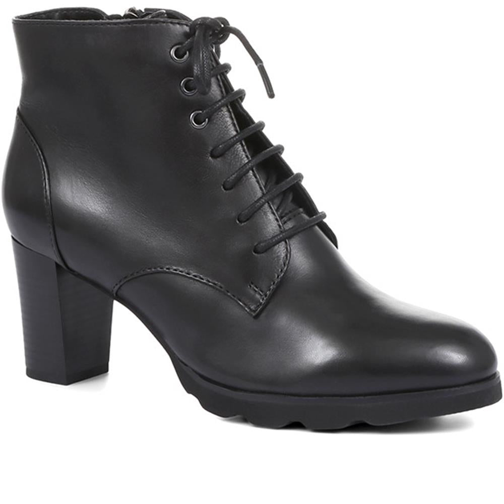Patricia 42 Lace-Up Heeled Ankle Boots - SINO32526 / 319 614
