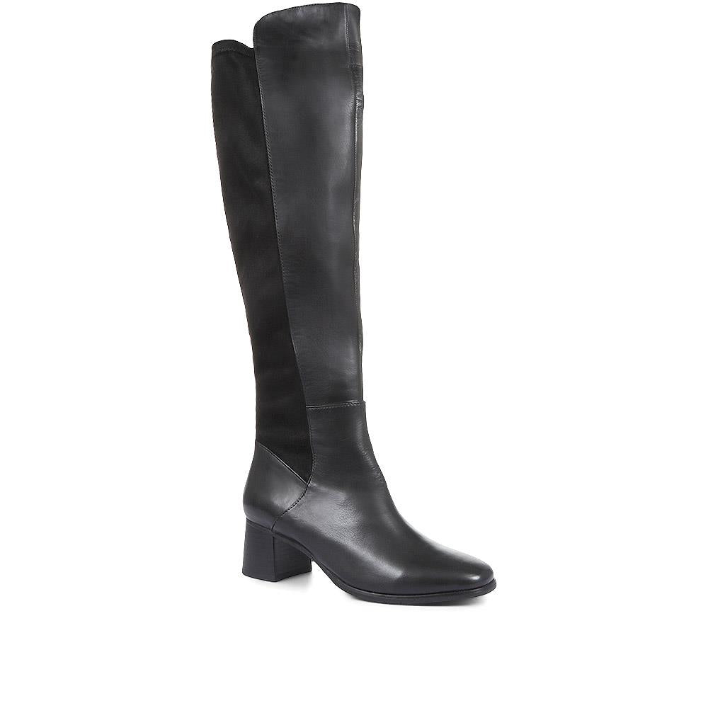 Ines 02 Leather Over the Knee Boots - SINO32531 / 319 676
