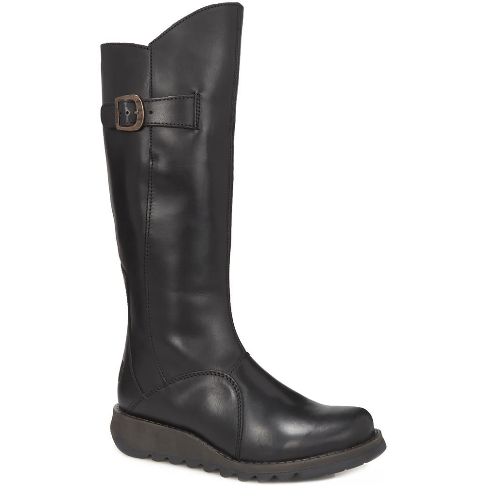 Mol 2 Leather Knee Boot - FLYLO28505 / 314 298