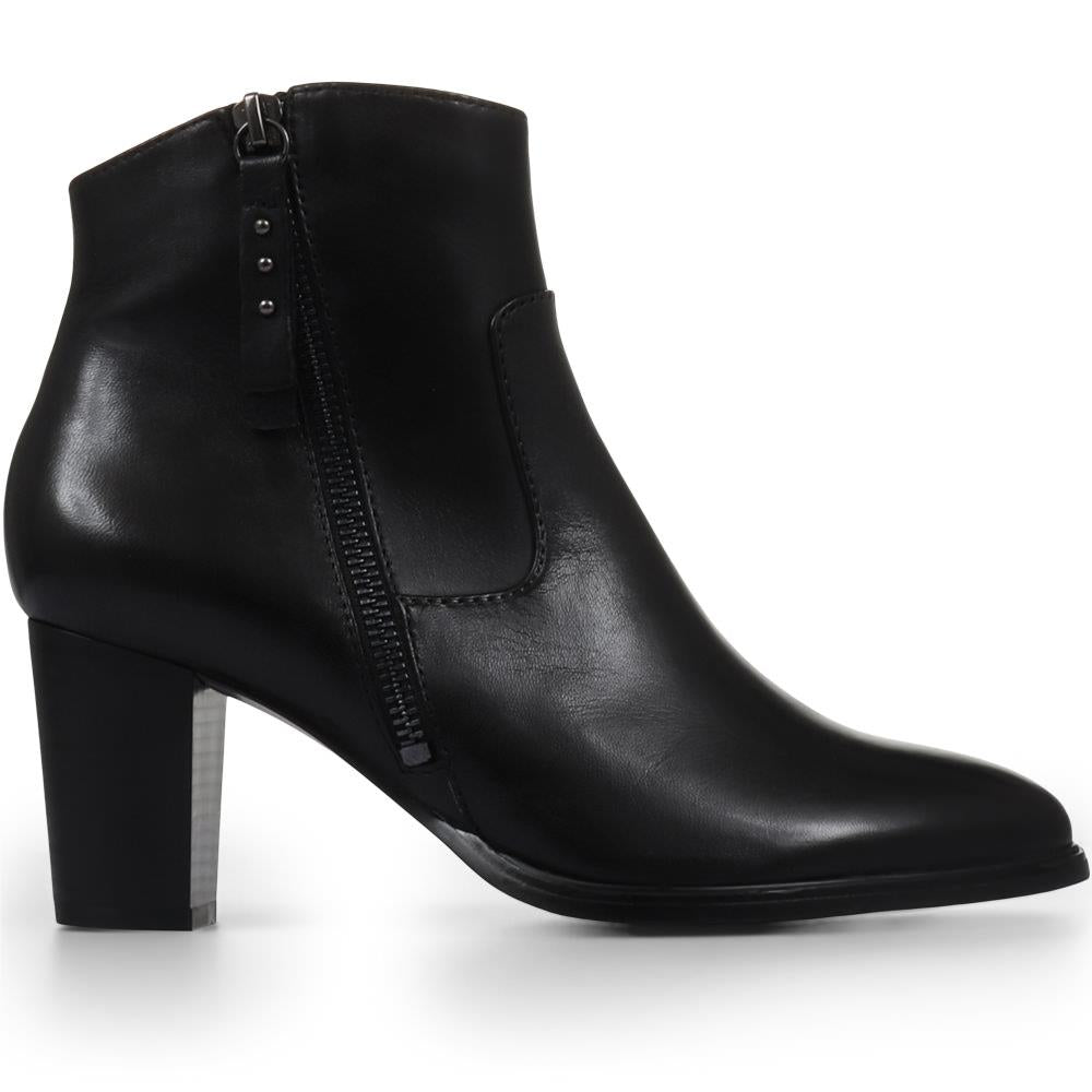 Julia 08 Leather Heeled Ankle Boots - SINO32524 / 319 612