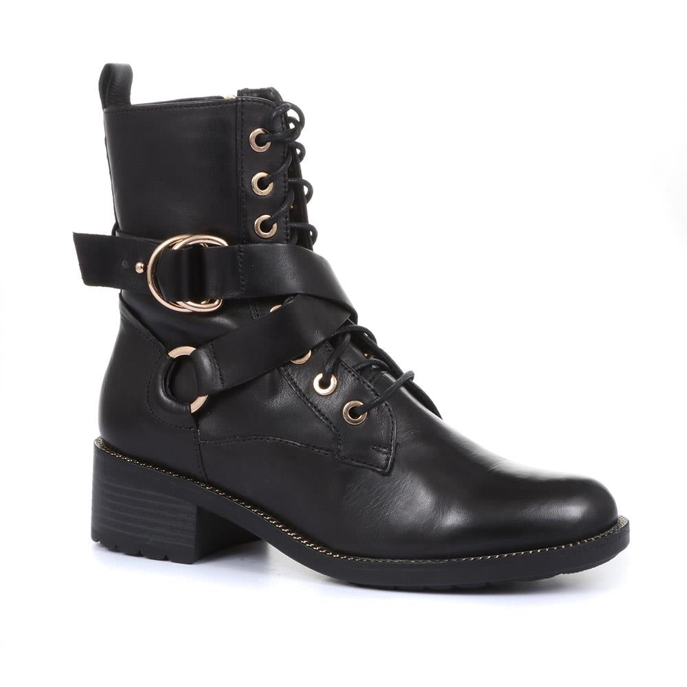 Emily 15 Leather Biker Boot - SINO32520 / 319 532