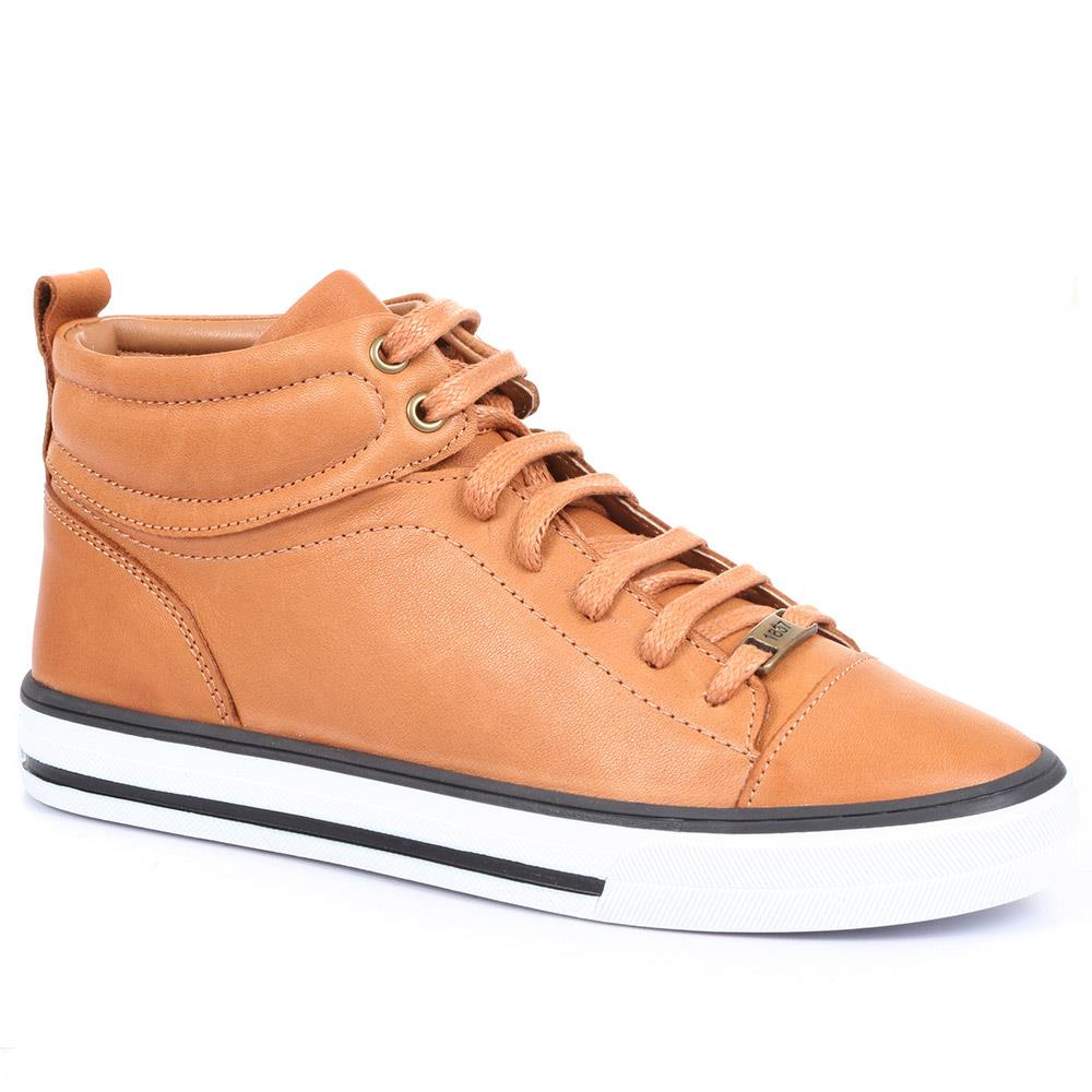 Brompton Leather High Top Trainers - BROMPTON / 319 622
