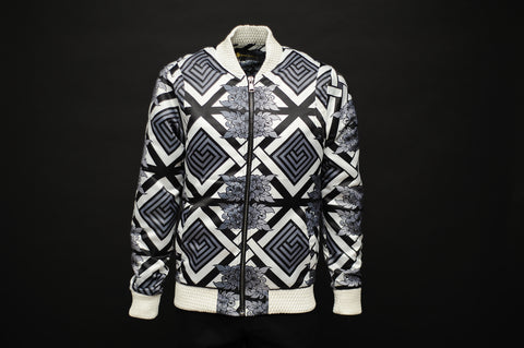 Silk Bomber Jacket Black /White