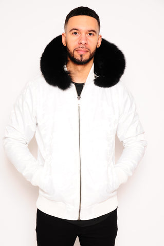 Men's Bomber Jacket White