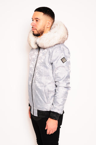 Men's Bomber Jacket Grey