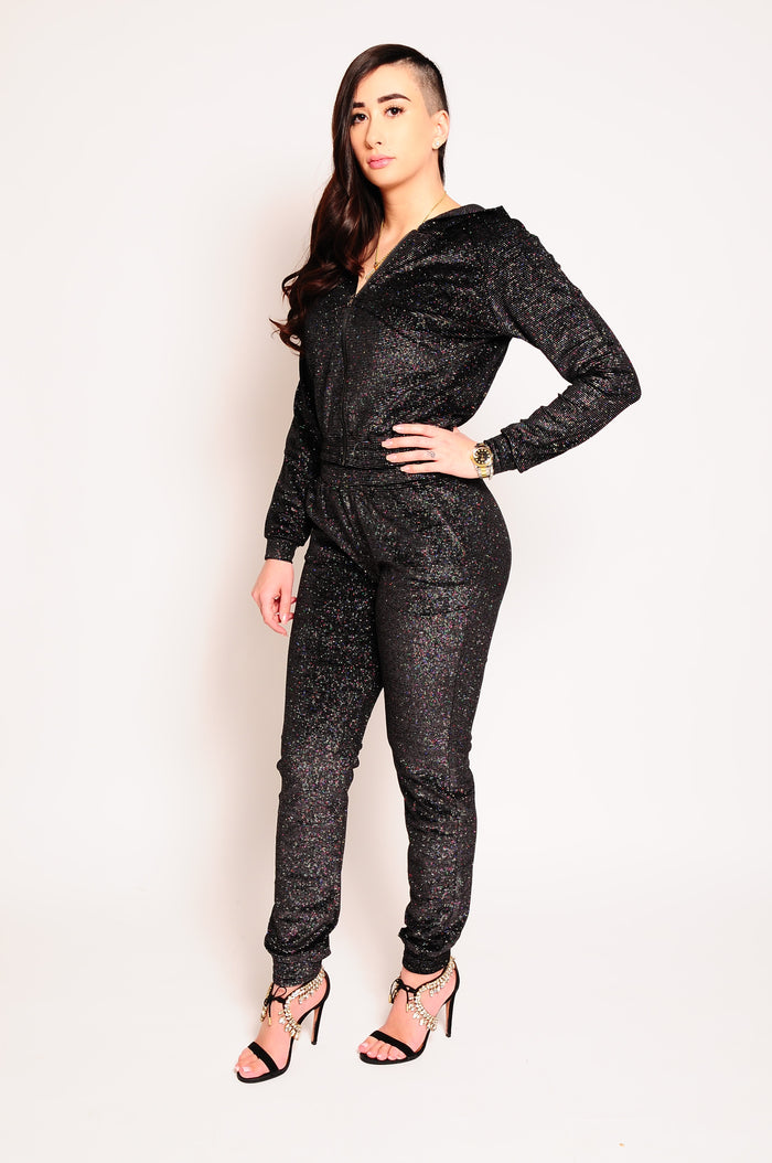 Women's Glitter Tracksuit (Various Colours)