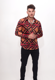 Majesty Print Silk Blend Shirt