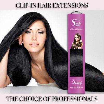 "#1 Natural Black 20"" Clip-in (160 Grams) 
