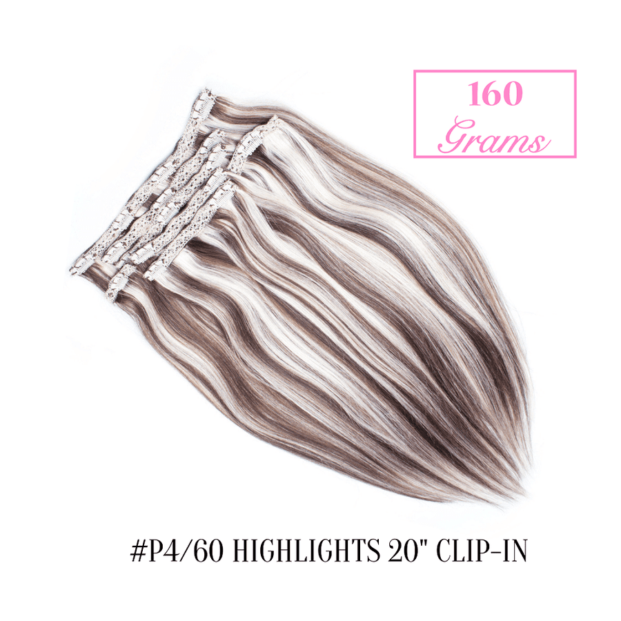 "#P4/60 Highlights  20"" Clip-in (160 Grams)"
