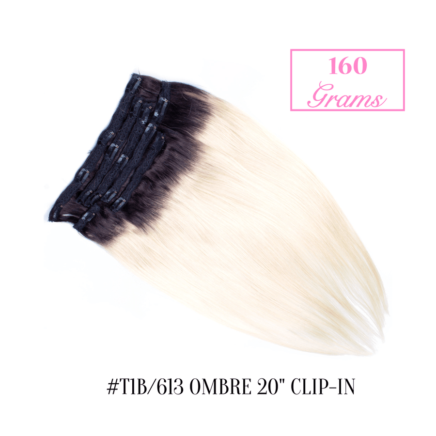 "#T1b/613 Ombre 20"" Clip-in (160 Grams)"