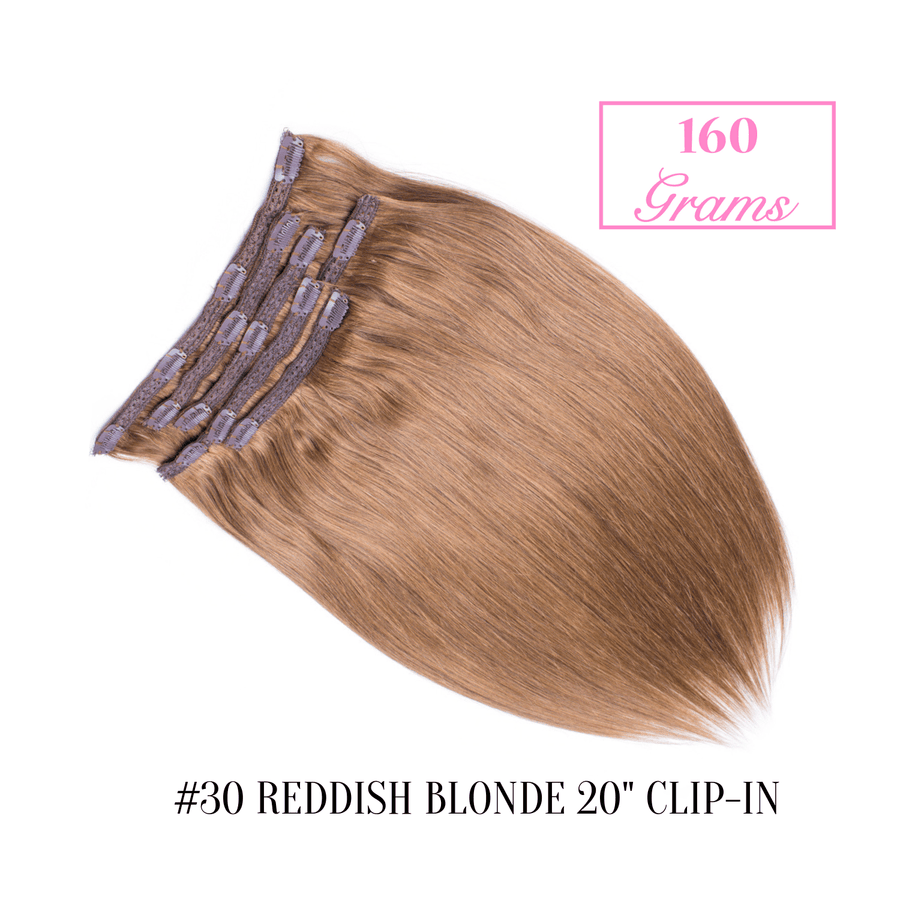 "#30 Reddish Blonde 20"" Clip-in (160 Grams)"