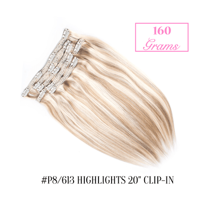 "#P8/613 Highlights 20"" Clip-in (160 Grams) 
