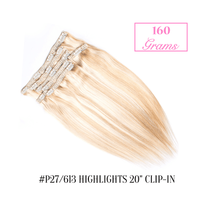 "#P27/613 Highlights 20"" Clip-in (160 Grams) 
