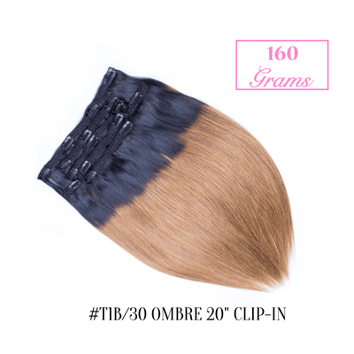 "#T1b/30 Ombre 20"" Clip-in (160 Grams) 