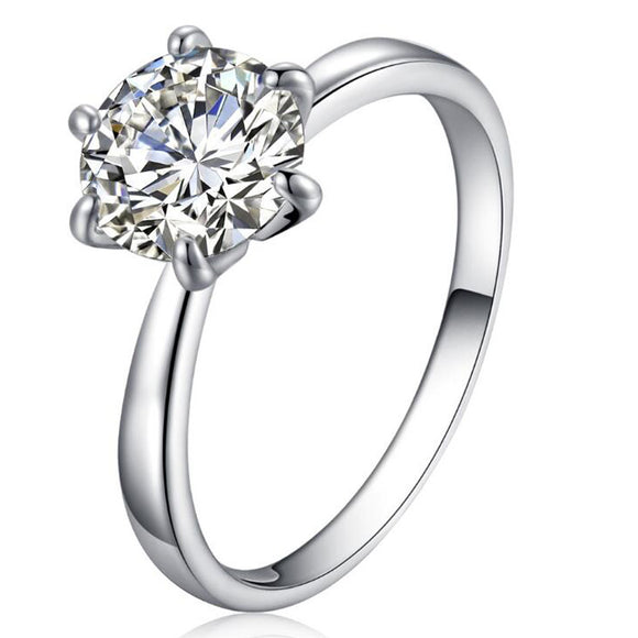 Classic Design Crystal Cut Diamond Ring