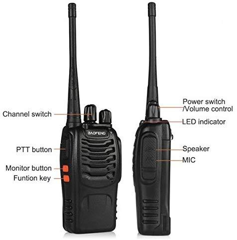 BAOFENG Walkie Talkie Earpiece BF888s & Portable Transceiver Two-Way Radio