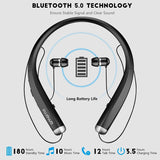 AMORNO Wireless Bluetooth Neckband Earbuds with Mic and Noise Cancellation - Crillow