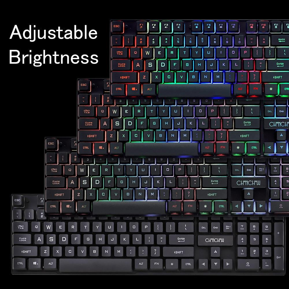 Backlit Gaming USB Keyboard & Mouse Combo For PC Gamers